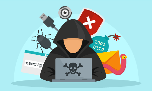 Cyber attacker on pc Social Engineering Explained
